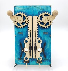 Green Tree Jewelry Steampunk Double Light Switch Plate - Blue