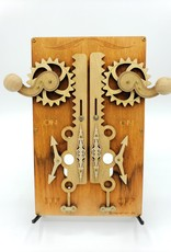 Green Tree Jewelry Steampunk Double Light Switch Plate - Brown