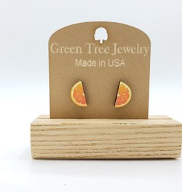 Green Tree Jewelry Orange Slice Post Earrings