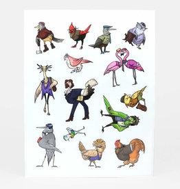 Queer Bird Sticker Sheet - Lucy Bellwood