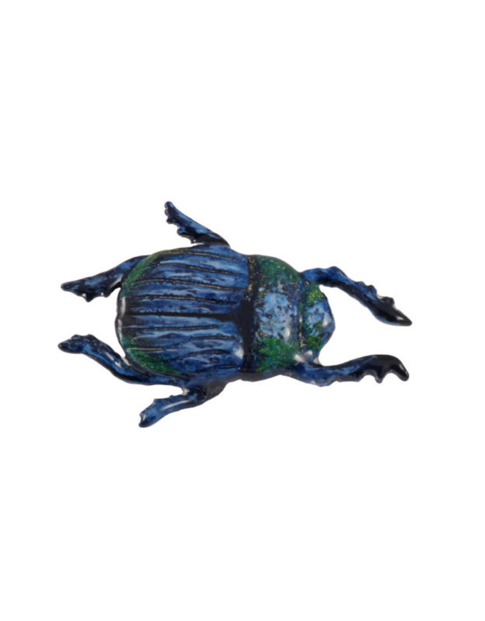 Hand Painted Beetle Pin/Brooch