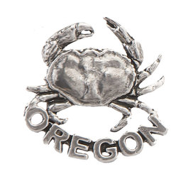 Pewter Oregon Crab Pin/Brooch