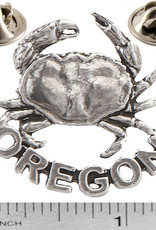 Pewter Oregon Crab Pin/Brooch