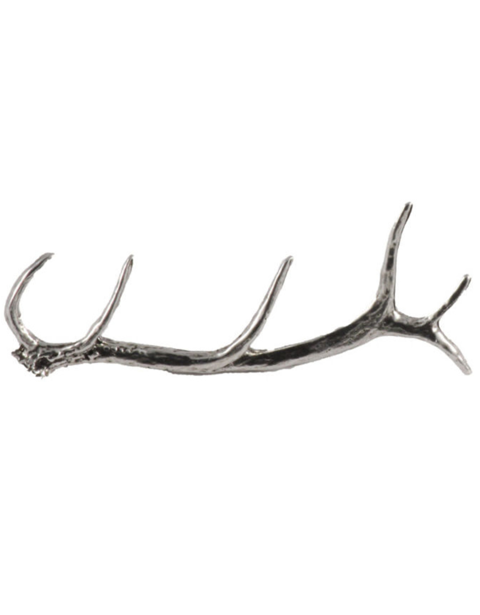 Pewter Elk Antler Shed Pin/Brooch