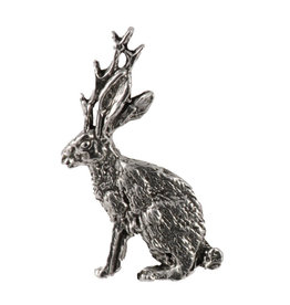 Pewter Jackalope Full Body Pin/Brooch
