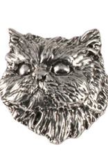 Pewter Persian Cat Pin/Brooch