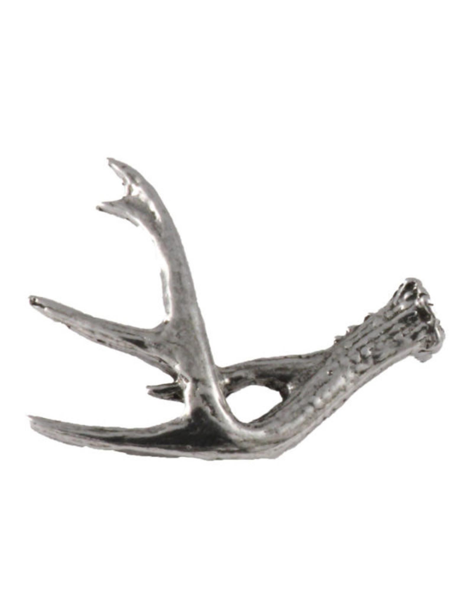 Pewter Whitetail Deer Antler Shed Pin/Brooch