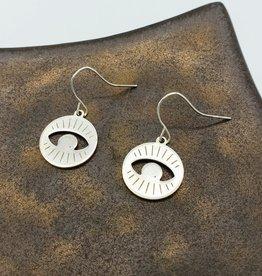 Kirsten Elise Jewelry Round Eye Earrings, sterling silver