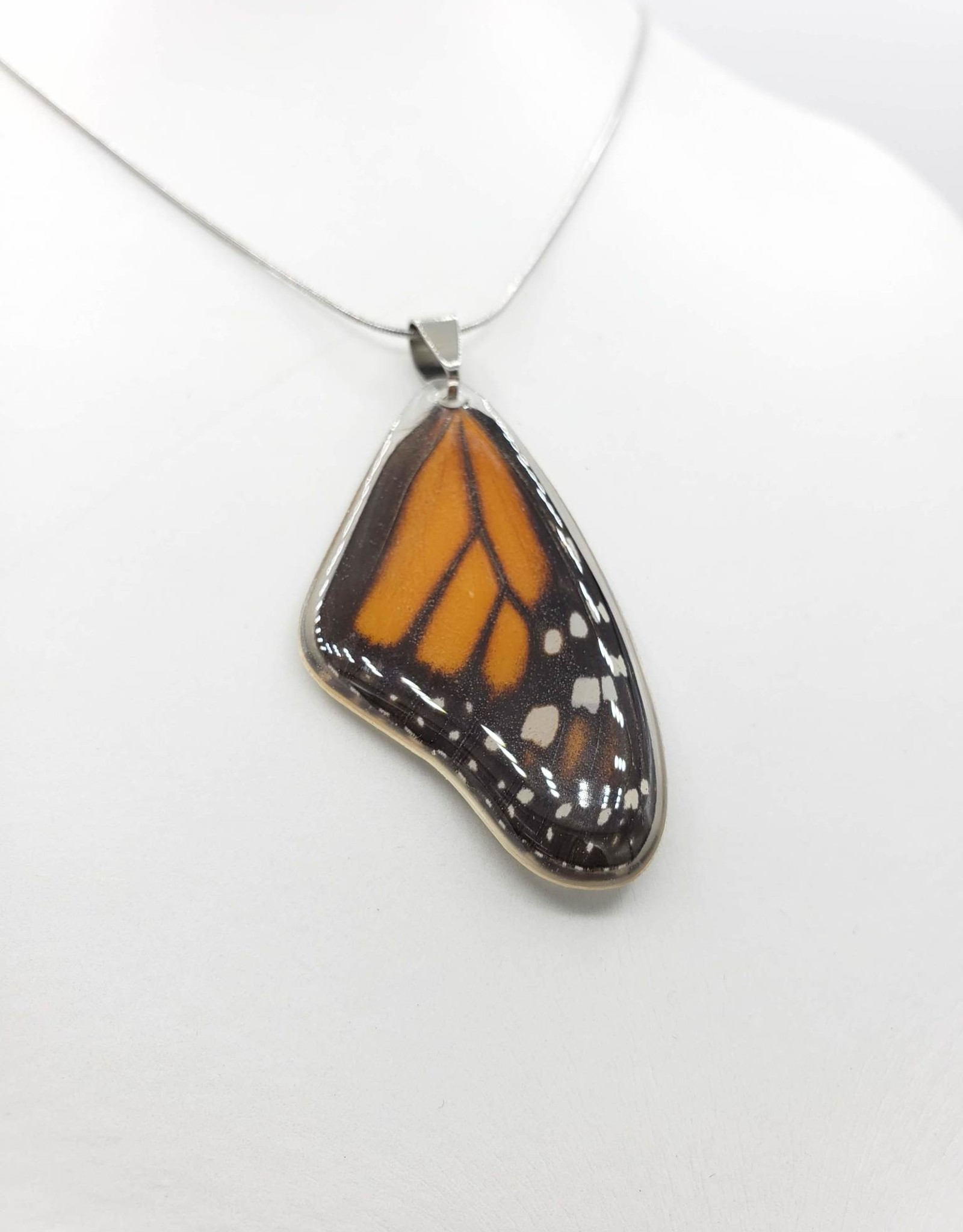 Asana Natural Arts Monarch Butterfly Laminated Wing Necklace