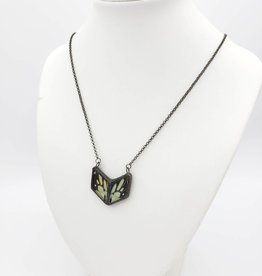 Dream Wings Graphium Antheus Chevron Butterfly Necklace