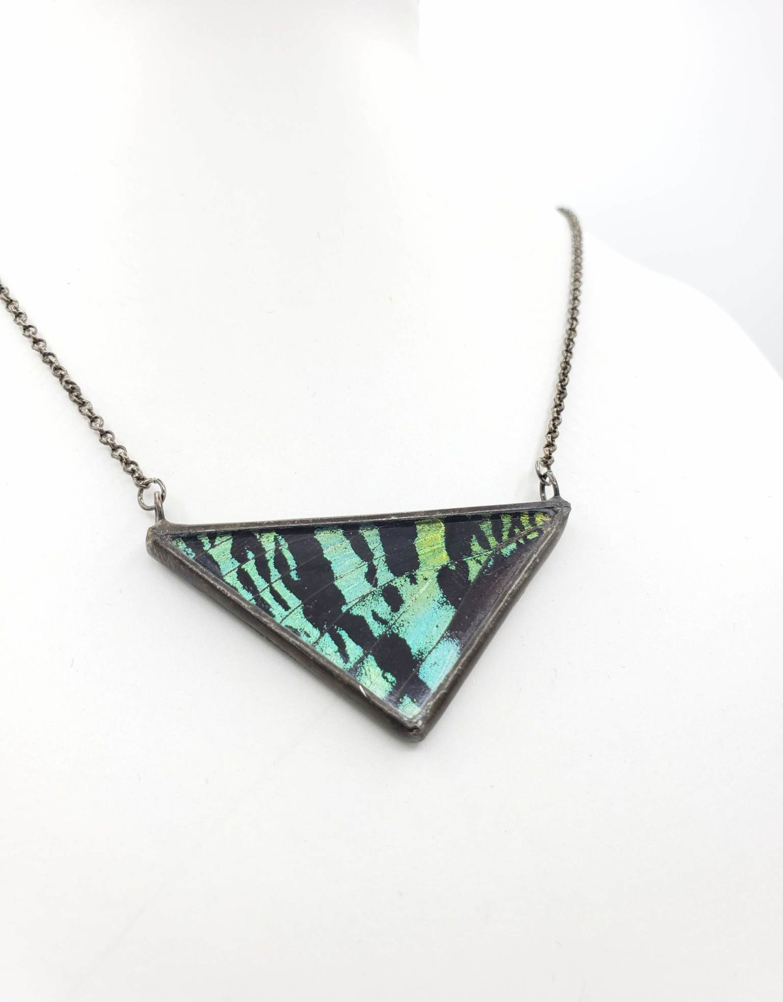 Dream Wings Sunset Moth Large Butterfly Necklace Triangle