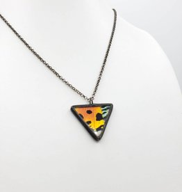 Dream Wings Sunset Moth Equilateral Triangle Butterfly Necklace