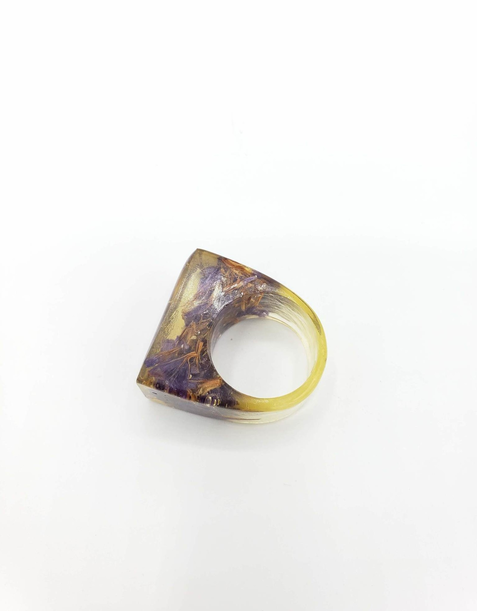 Forget Me Not Cube Resin Ring