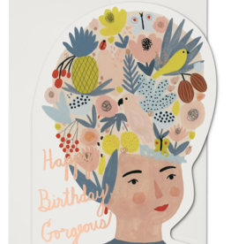 Happy Birthday Gorgeous - Greeting Card Die Cut Foil - Red Cap