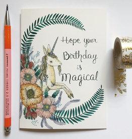 "Marika Paz ""Hope Your Birthday is Magical"" Greeting Card - Marika Paz"