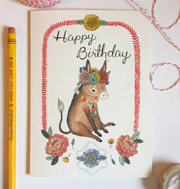 "Marika Paz ""Happy Birthday Little Burro"" Greeting Card - Marika Paz"