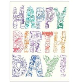 """Gemma Correll """"Happy Birthday"""" Greeting Card - Gemma Correll"""