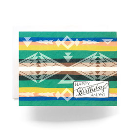 """Happy Birthday Amigo"" Camp Blanket Greeting Card - Antiquaria"
