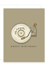 """""""Oldie but Goodie"""" Birthday Greeting Card - April Black"""