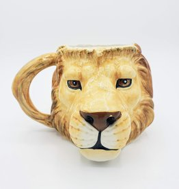 Big Cat Mug, Ceramic Lion