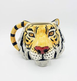 Big Cat Mug, Ceramic Tiger