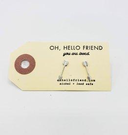 Oh, Hello Friend Silver Arrows Geometric Stud Earrings