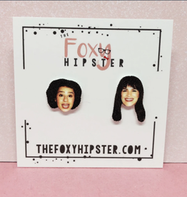 The Foxy Hipster Broad City Shrinky Dink Stud Earring - The Foxy Hipster