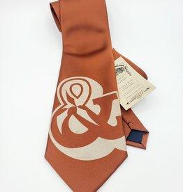 CyberOptix Ampersand, Bronze Ink on Amber - CyberOptix Tie
