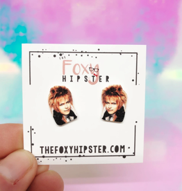 The Foxy Hipster The Goblin King, David Bowie in the Labyrinth Shrinky Dink Stud Earring - The Foxy Hipster