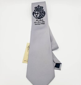 CyberOptix Marie Antoinette, Black Ink on Silver - CyberOptix Tie