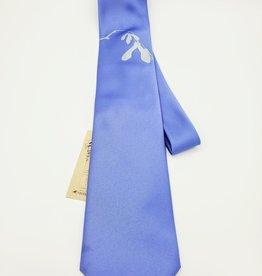 CyberOptix Blue Seedling, Silver Ink - CyberOptix Tie