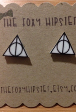 The Foxy Hipster The Deathly Hallows, Harry Potter  Shrinky Dink Post Earrings - The Foxy Hipster