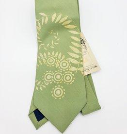 CyberOptix Green Fern, Gold Ink - CyberOptix Tie