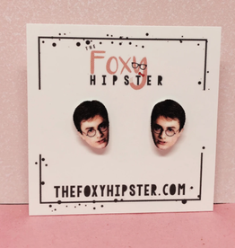 The Foxy Hipster Harry Potter Shrinky Dink Post Earring - The Foxy Hipster