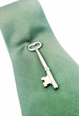 Redux Green Microfiber Tie with Key Ornament