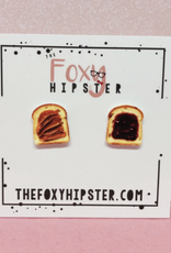 The Foxy Hipster Peanut Butter + Jelly Shrinky Dink Post Earrings - The Foxy Hipster