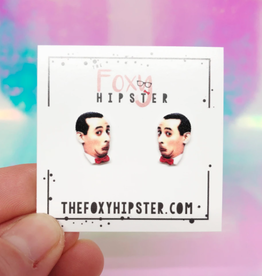 The Foxy Hipster Pee Wee Herman Shrinky Dink Post Earrings - The Foxy Hipster