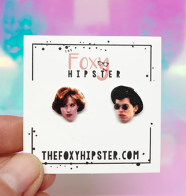The Foxy Hipster Pretty in Pink, Duckie + Andie Shrinky Dink Post Earrings - The Foxy Hipster