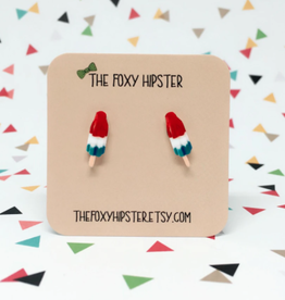 The Foxy Hipster Rocket Pop Shrinky Dink Post Earrings - The Foxy Hipster
