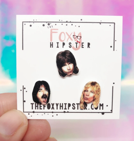 The Foxy Hipster Spinal Tap Shrinky Dink Earrings, Set of 3 - The Foxy Hipster