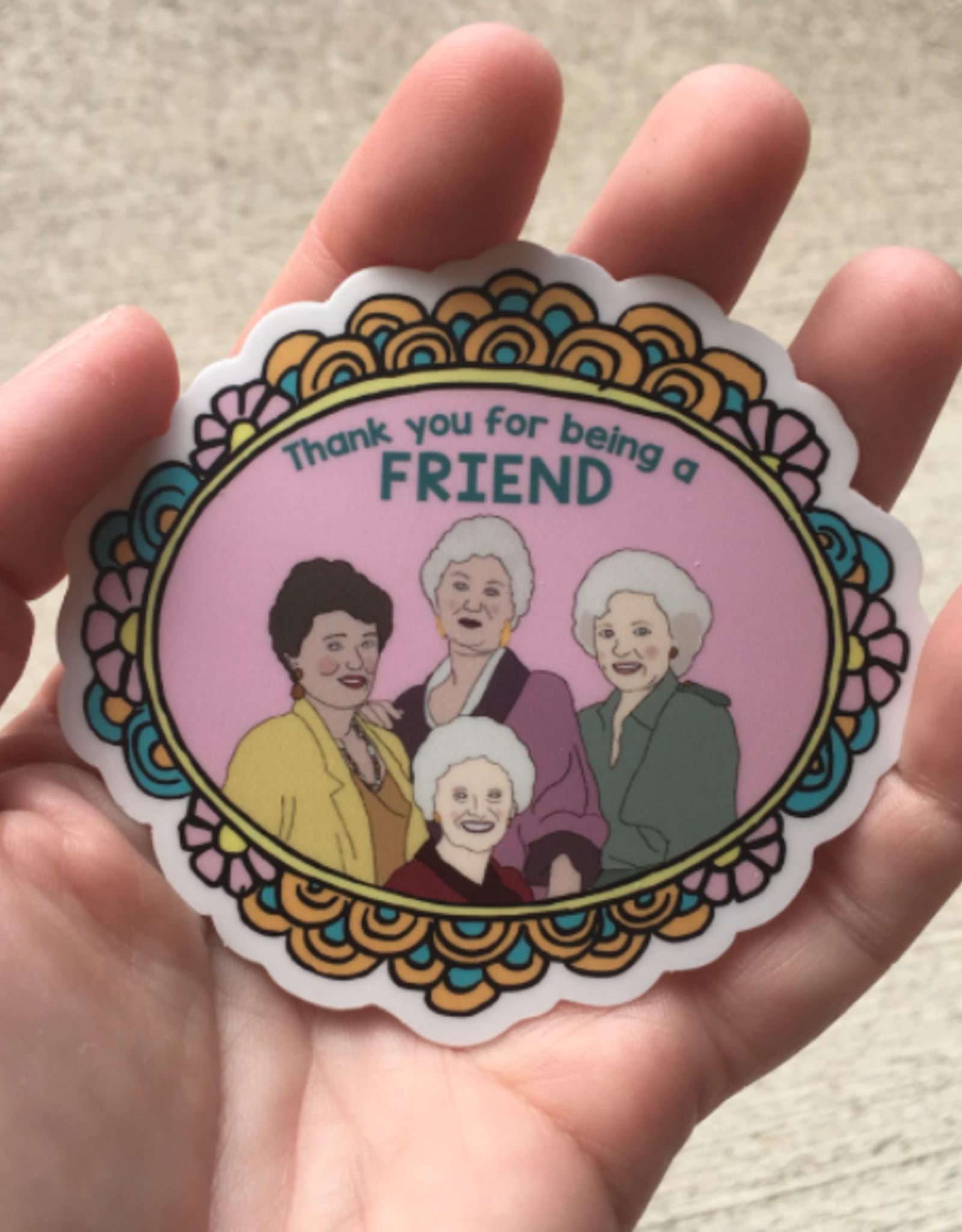 The Foxy Hipster Golden Girls Sticker - The Foxy Hipster