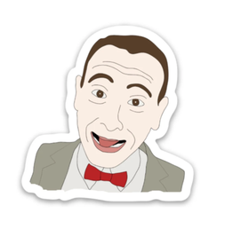 The Foxy Hipster Pee Wee Herman Sticker - The Foxy Hipster