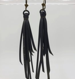 Bike Tire Fringe Earrings w/Rubber Grommet