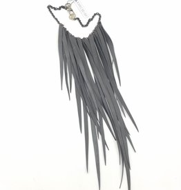 Beatrice Holiday Fringe-A-Holic Necklace, Bike Tire