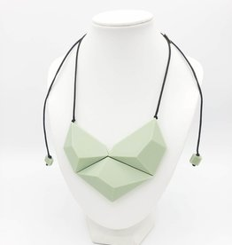 Sylca Designs Mint Geometric Resin Necklace