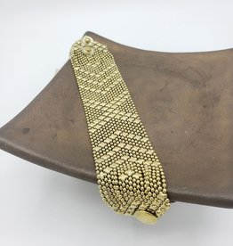 Mata Traders Metalwork Bracelet, Gold - Mata Traders