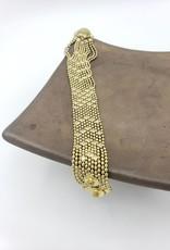 Mata Traders Petit Metalwork Bracelet, Gold - Mata Traders
