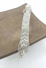 Mata Traders Petit Metalwork Bracelet, Silver - Mata Traders