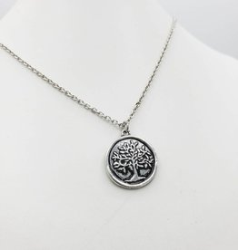 Love Letters Wax Seal Tree Pendant - Silver Tone