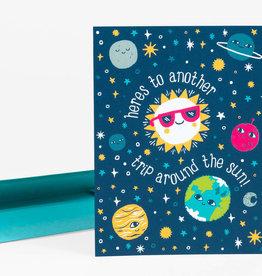 """Trip Around the Sun"" Birthday Greeting Card - Allison Cole"
